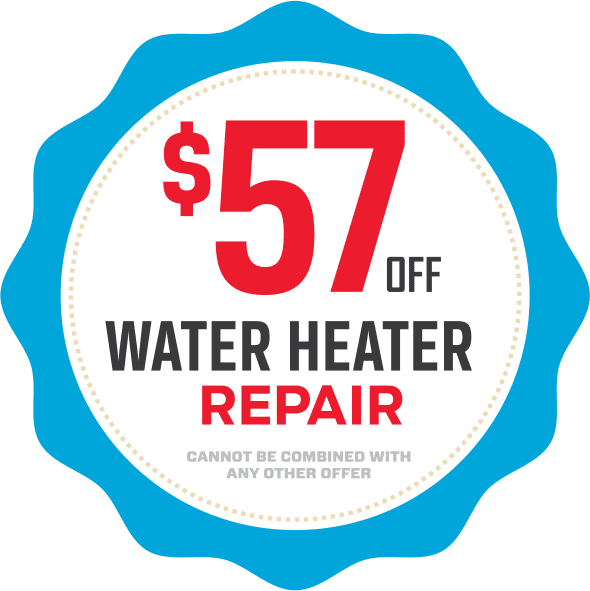 Fifty-seven dollars off water heater repair coupon