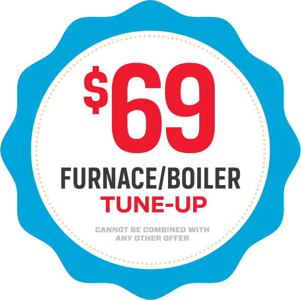 Sixty-nine dollar furnace or boiler tune-up coupon